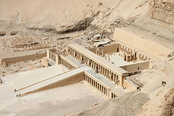 Deir-al-Bahri (Temple of Hatshepsut) stock photo