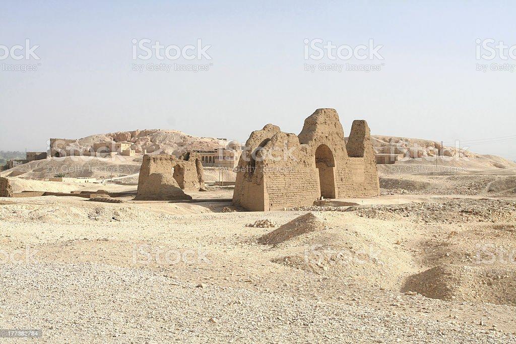 Deir-el-Medina royalty-free stock photo