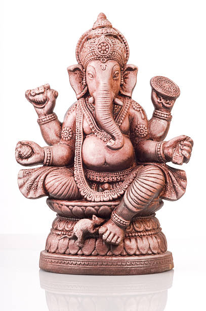 Gottheit der Ganescha von Indien auf weißem Hintergrund – Foto