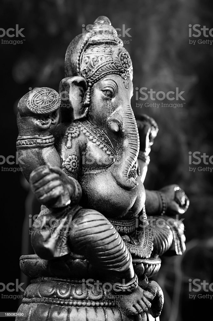 Deity of Ganesha from India stock photo