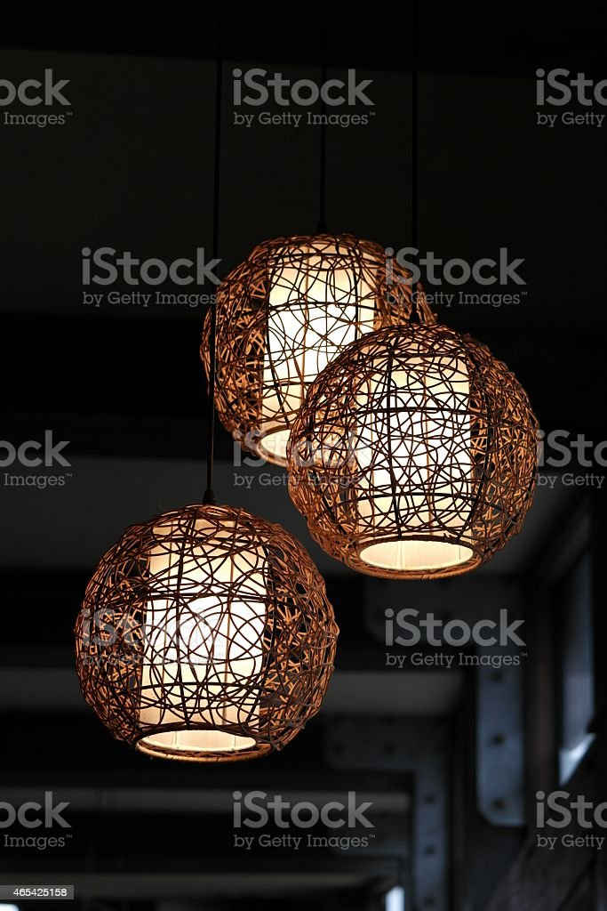 Dekorative Deckenbeleuchtung stock photo