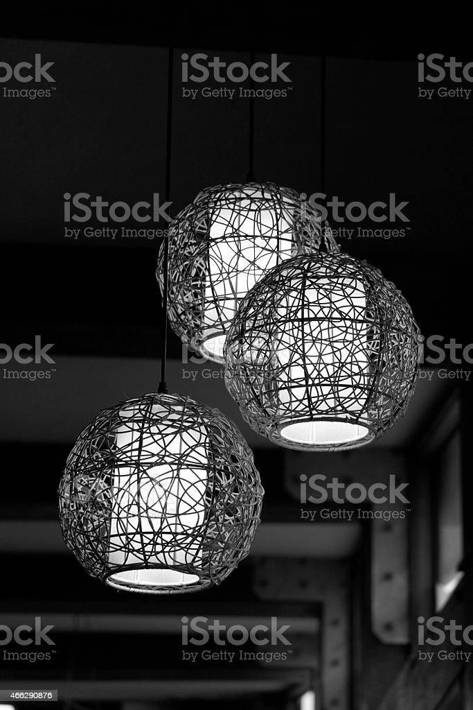 Dekorative Deckenleuchte stock photo