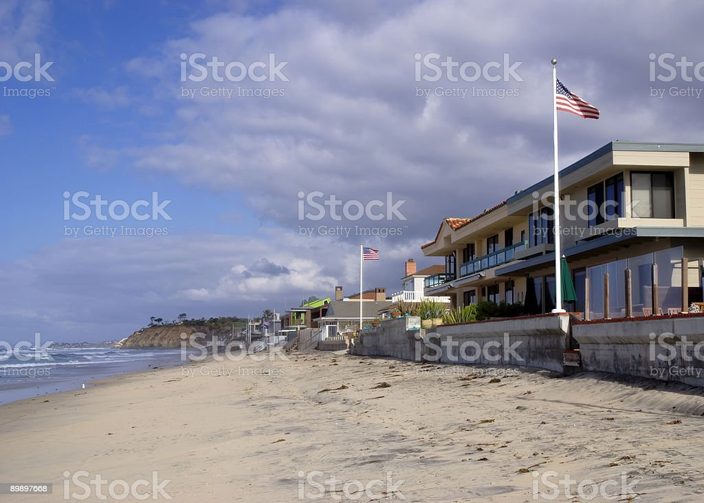 Del Mar beach royalty-free stock photo