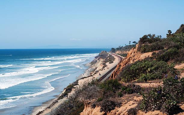 del mar küste - süd kalifornien stock-fotos und bilder