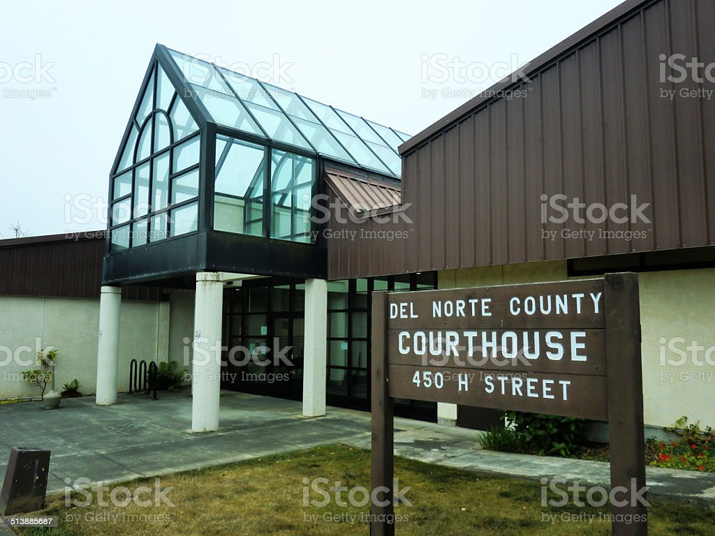 Del Norte, California Courthouse stock photo