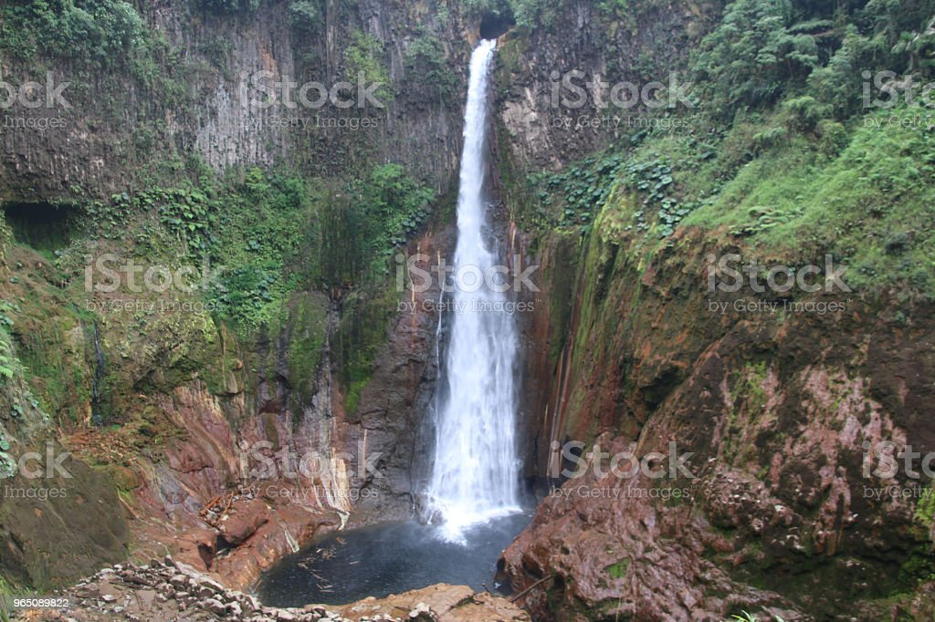 Catarata Del Toro In Costa Rica royalty-free stock photo