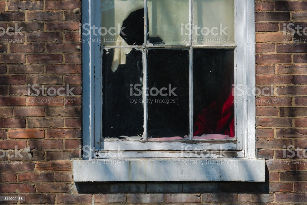 Delapidated Aged Window stock photo