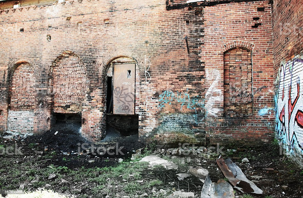 Delapidated Building stock photo