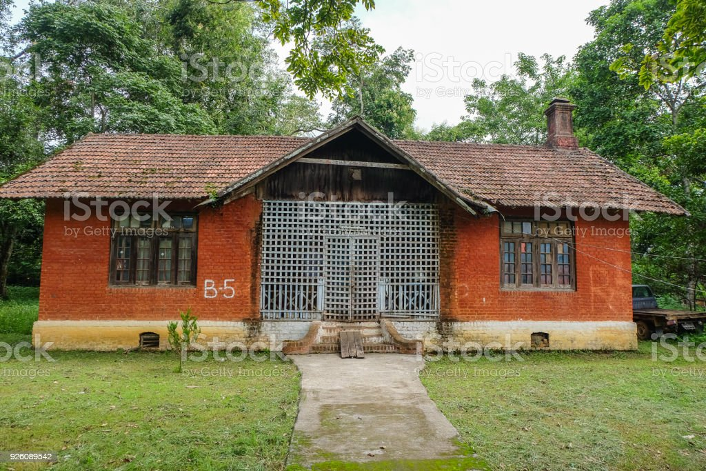 Asia Mandalay Myanmar Chimney Colonial Style Delapidated House