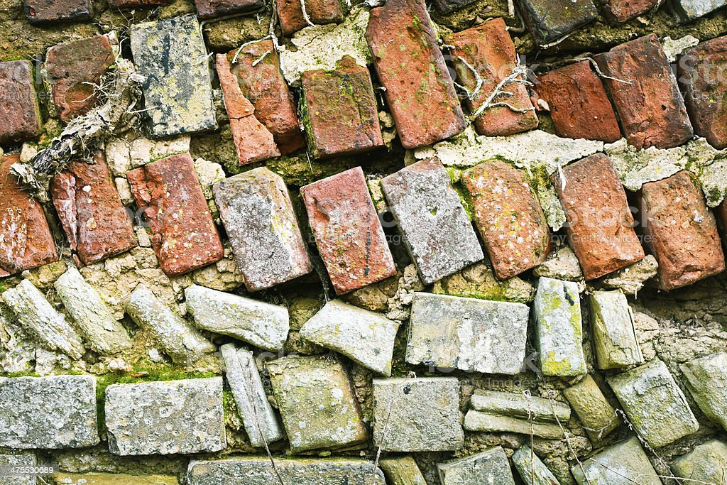 Delapidated wall stock photo