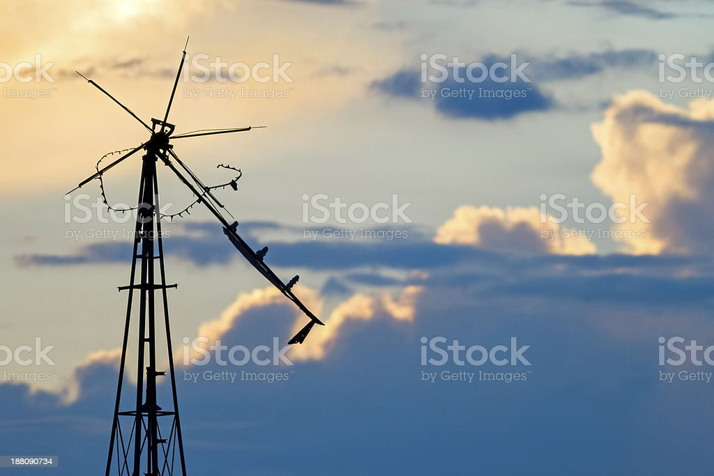 Delapidated Windmill Sky stock photo