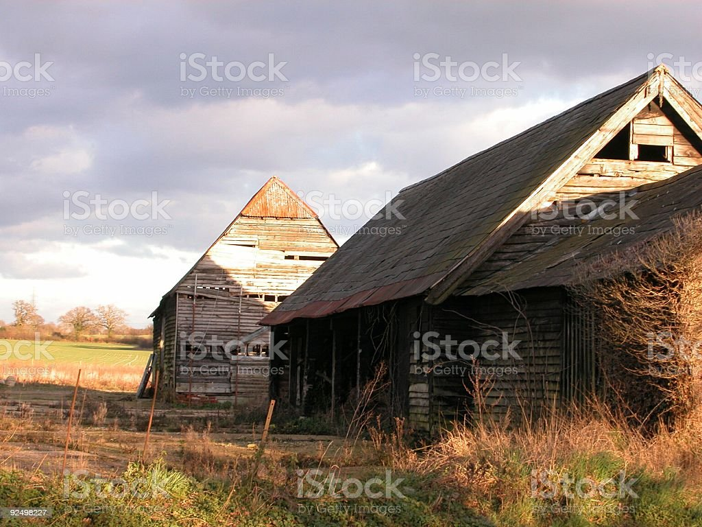 Delapitated Old wooden Farm Shed royalty-free stock photo