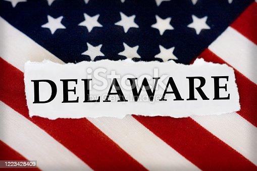 Delaware US Flag