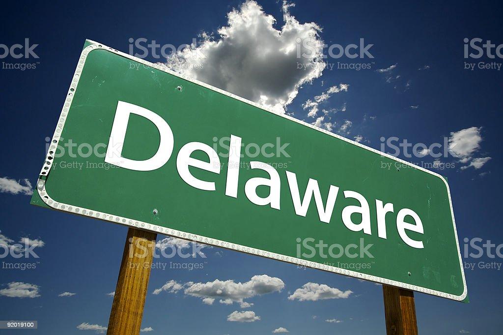 Delaware Road Sign stock photo
