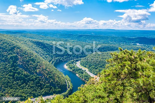 Delaware Water Gap as seen from Mt. Tammany, New Jersey side