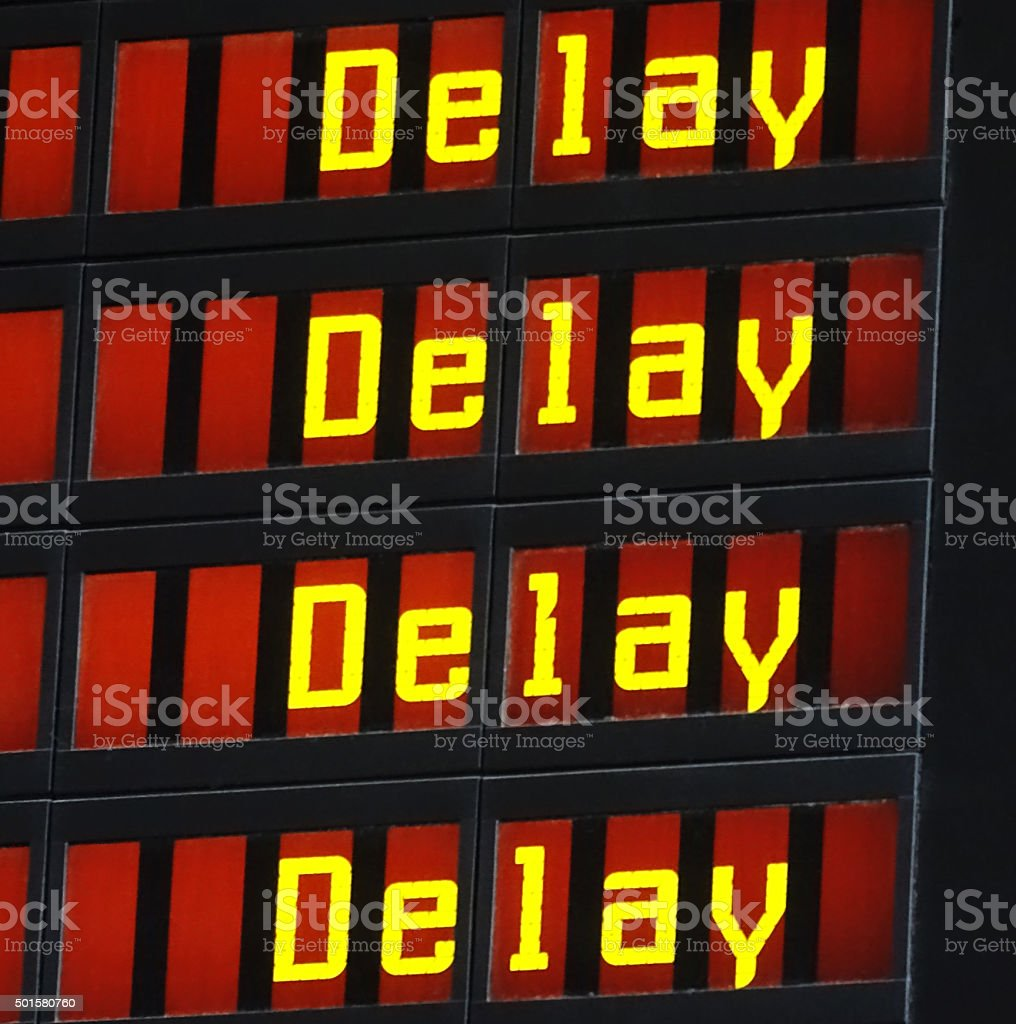 Delay display stock photo