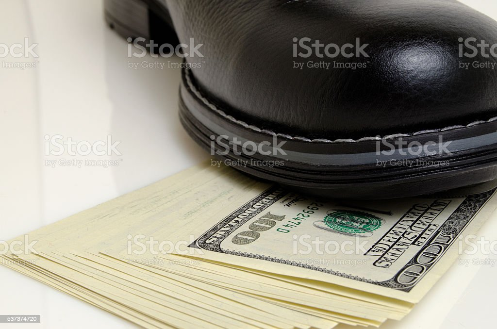 Delay or cessation of payments. stock photo