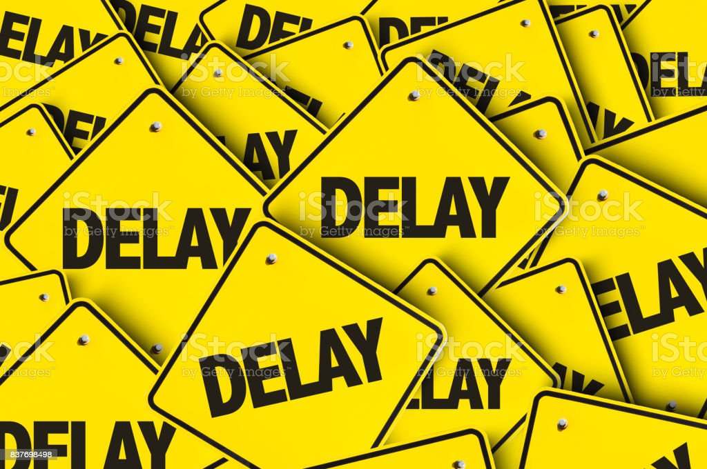 Delay stock photo
