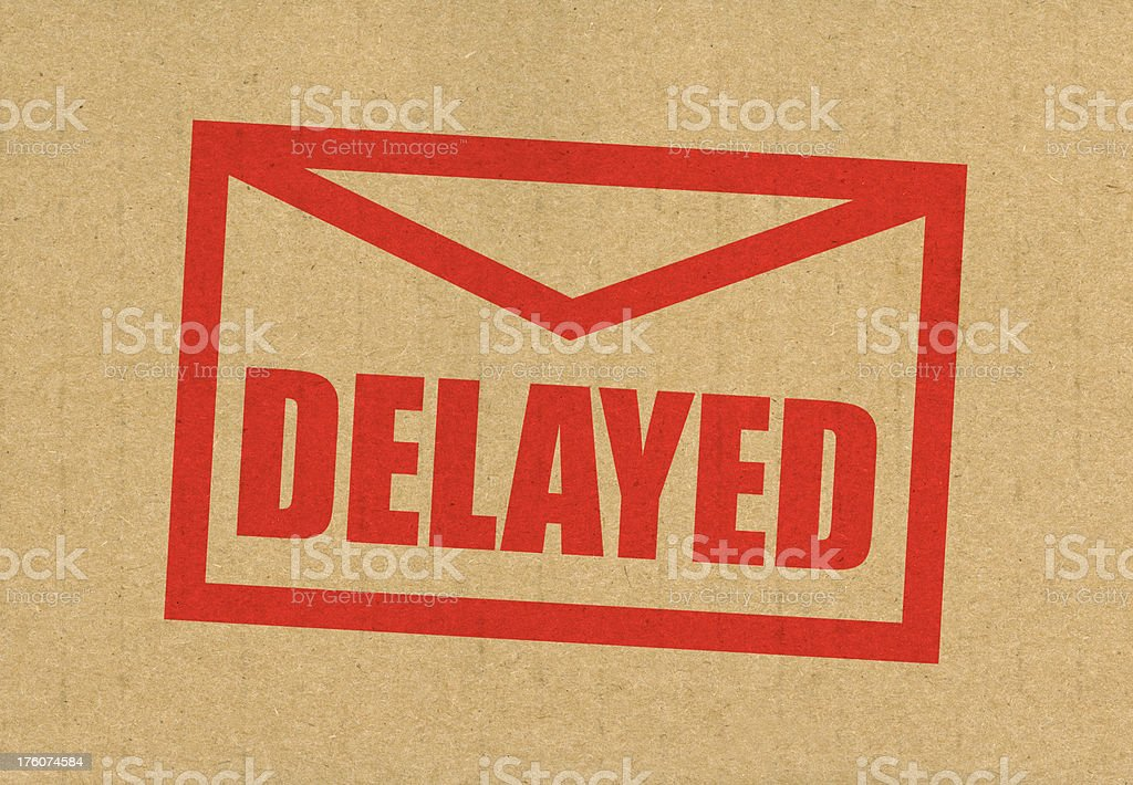 Delayed Mail stock photo