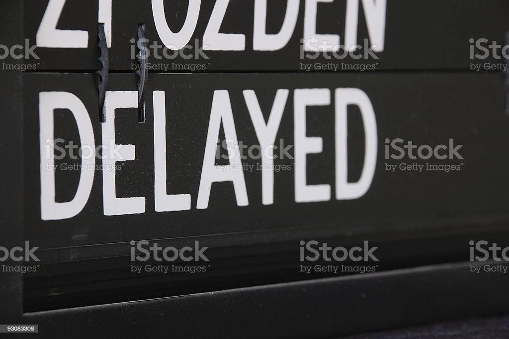 Delayed message stock photo
