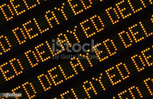 istock Delayed Sign Closeup 1033437444