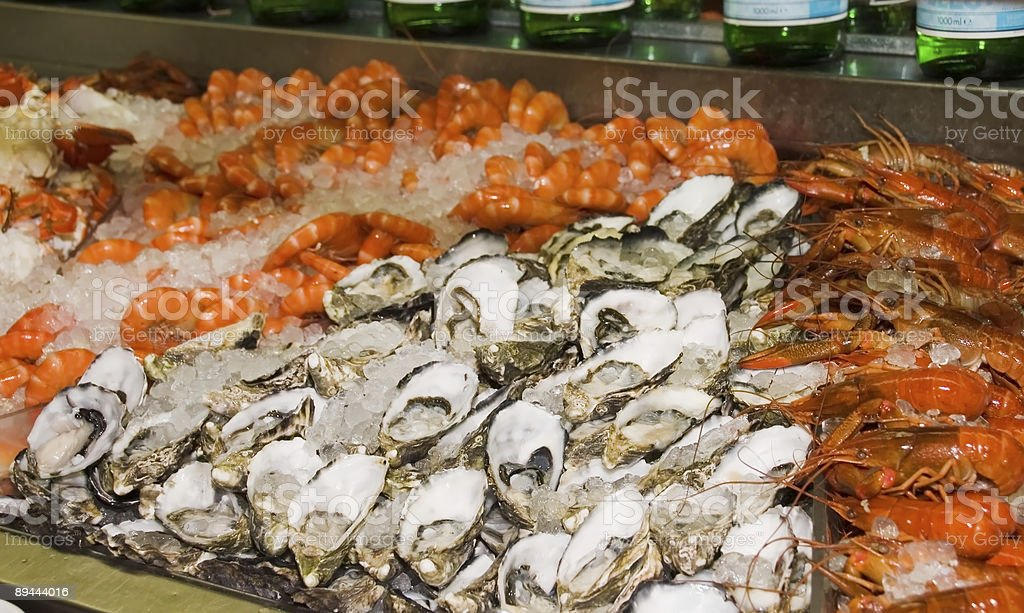 Delectable Seafood Bar royalty-free stock photo