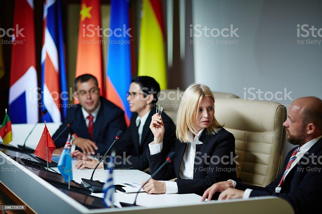 Delegates at forum foto royalty-free