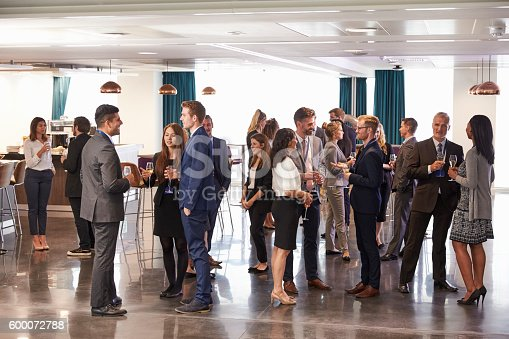 istock Delegates Networking At Conference Drinks Reception 600072788