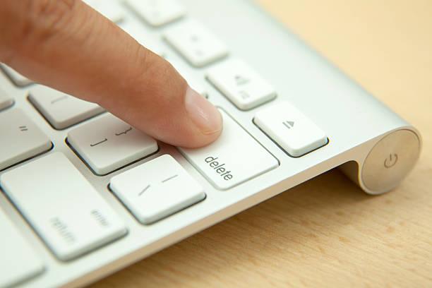 delete button - delete key stock photos and pictures