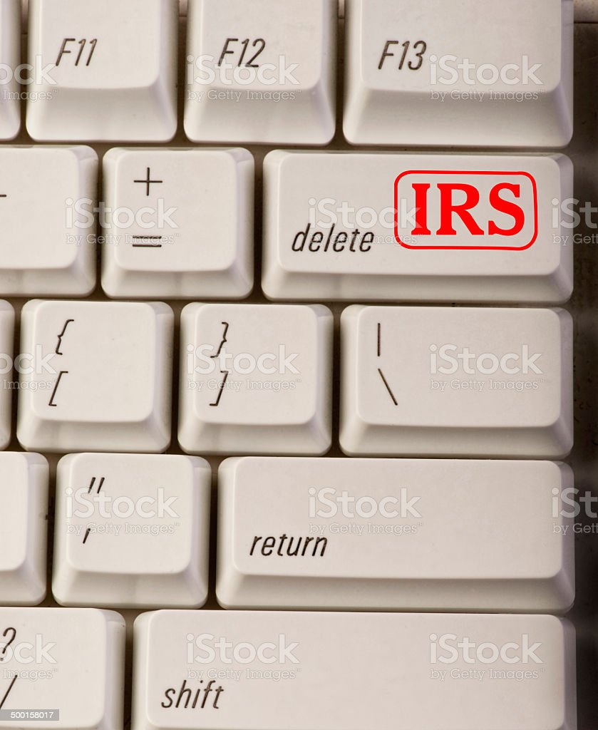 IRS Delete Button. stock photo