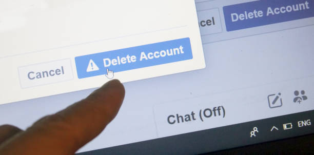 delete facebook account - delete key stock photos and pictures