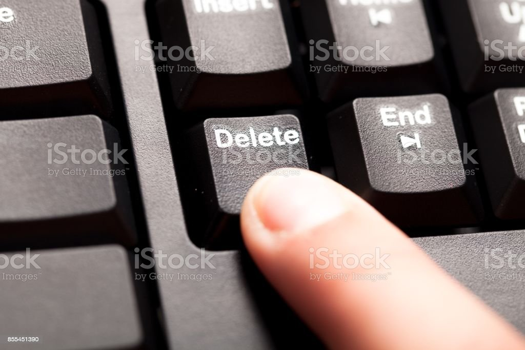 Delete key. stock photo
