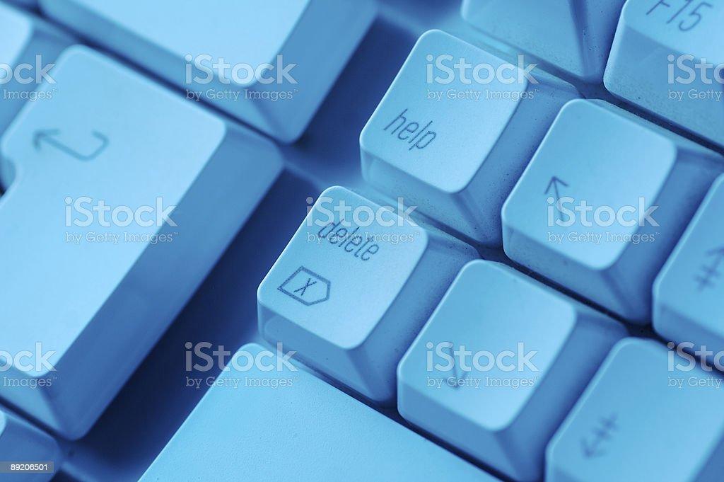 Delete Key... stock photo