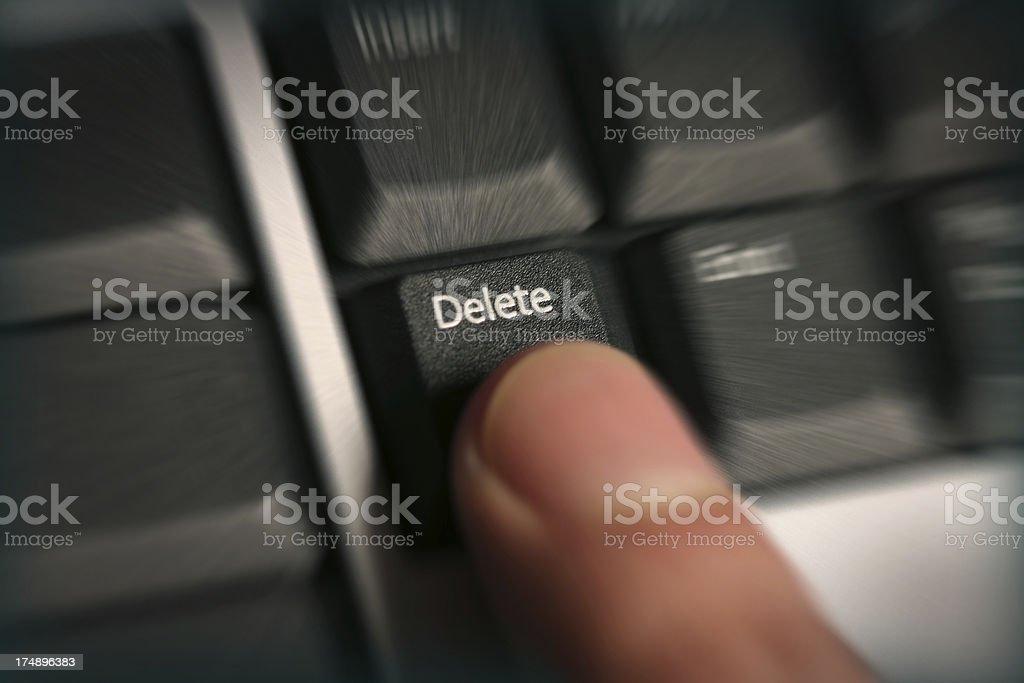 Delete! stock photo
