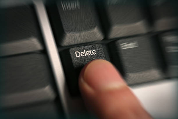 delete! - delete key stock photos and pictures