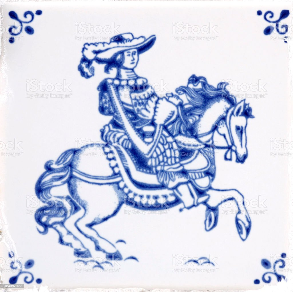 Delft Blue Tile stock photo