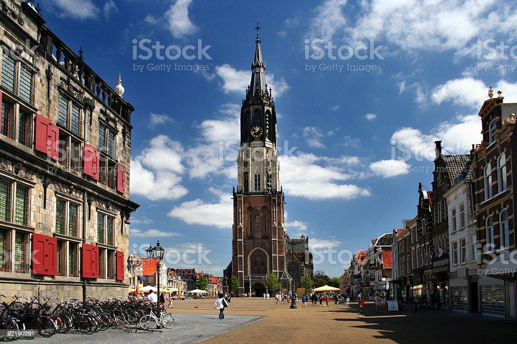 Delft Church stock photo