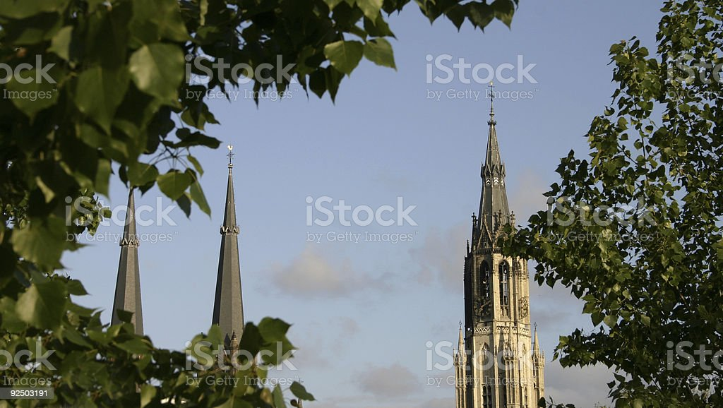delft churches royalty-free stock photo