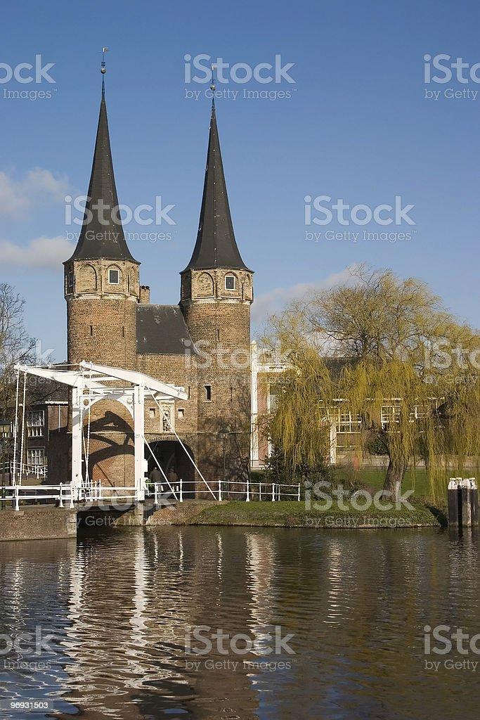 Delft city gate royalty-free stock photo