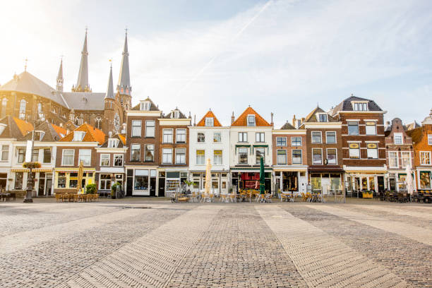 delft city in netherland - netherlands stock pictures, royalty-free photos & images