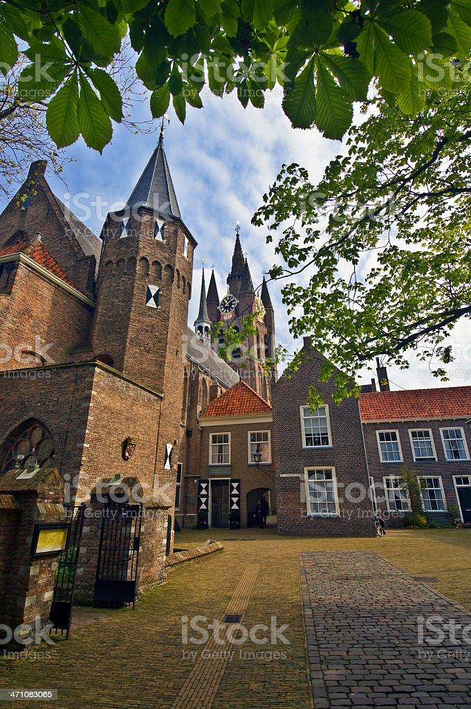 Delft historic center > The Prinsenhof stock photo