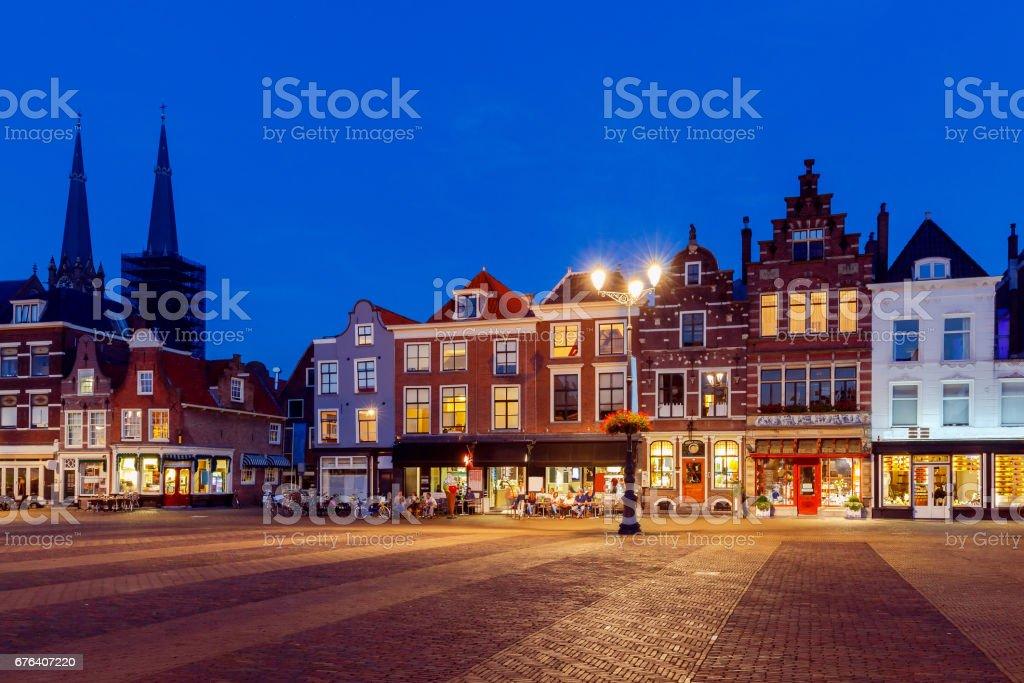 Delft. Market Square stock photo