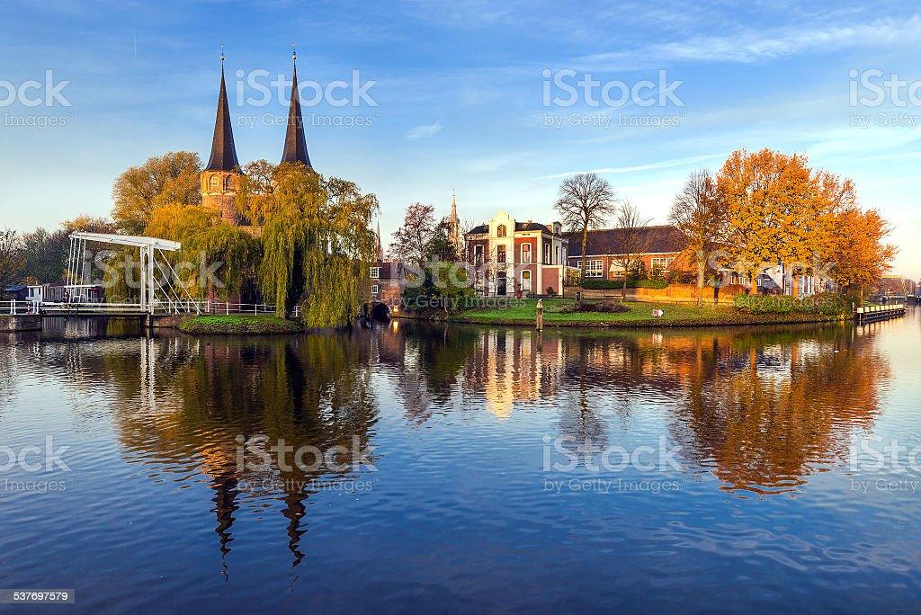 Delft Oostpoort stock photo