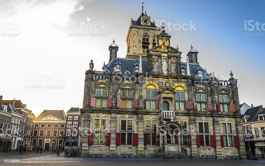 Delft Town Hall royalty-free stock photo