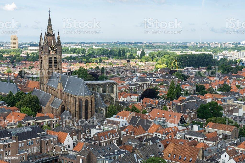 Delft view stock photo