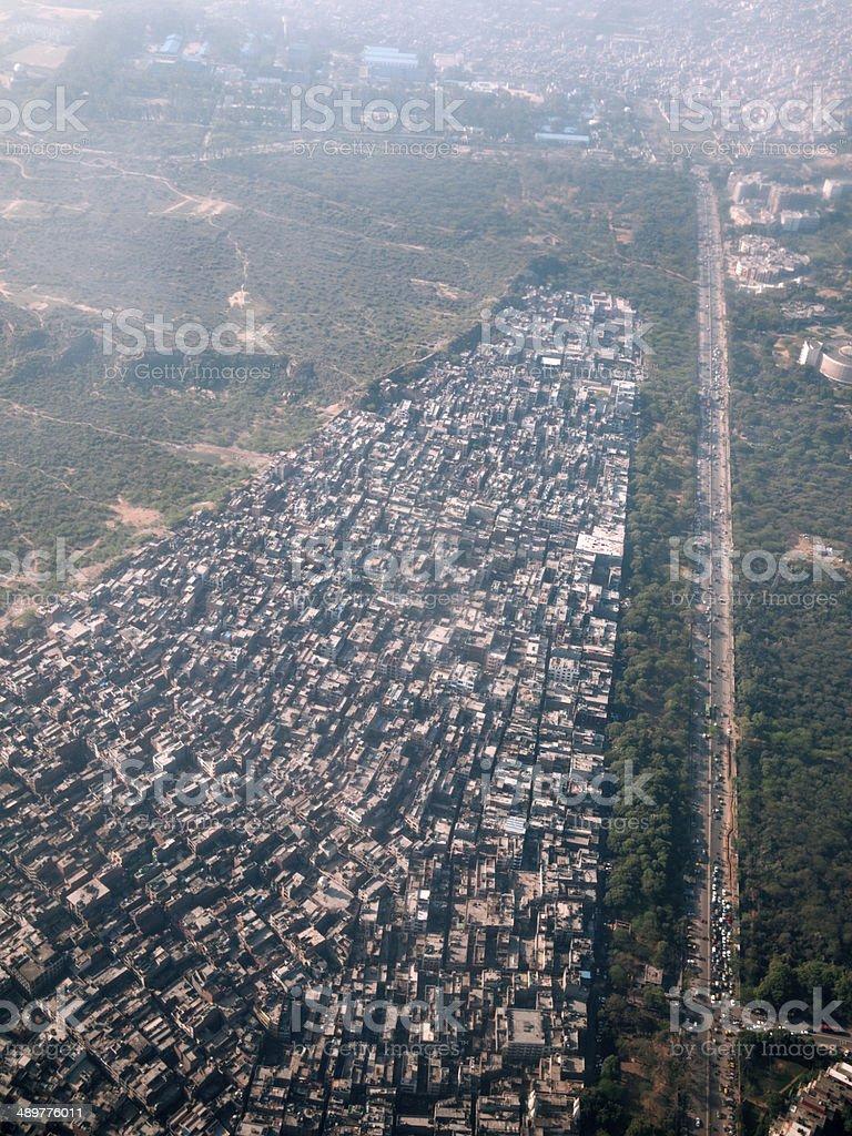 Delhi, aerial view stock photo