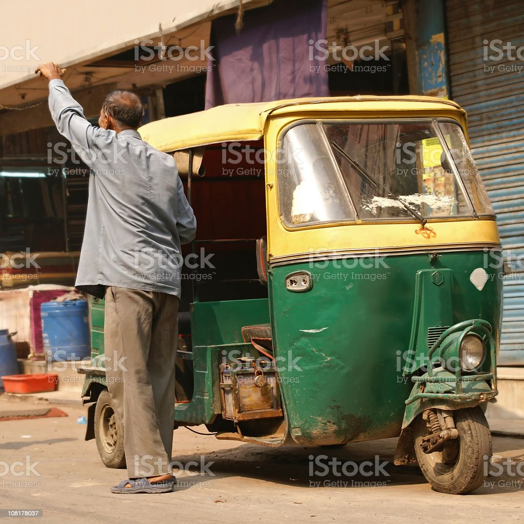 Delhi, India. Auto rickshaw royalty-free stock photo