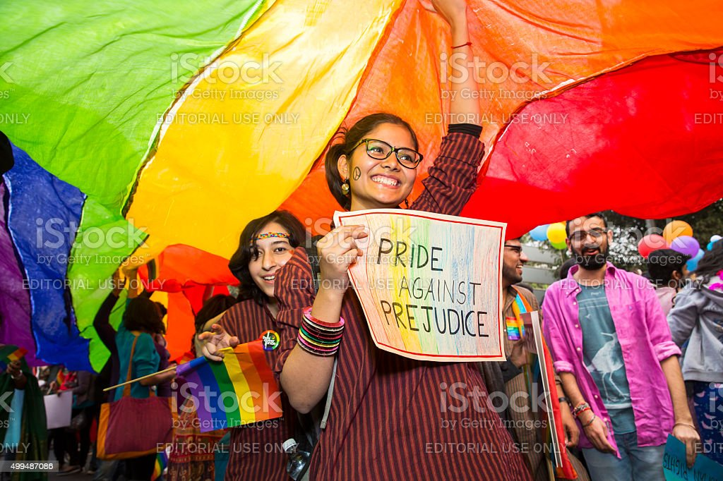 Delhi Queer Pride -2015 stock photo