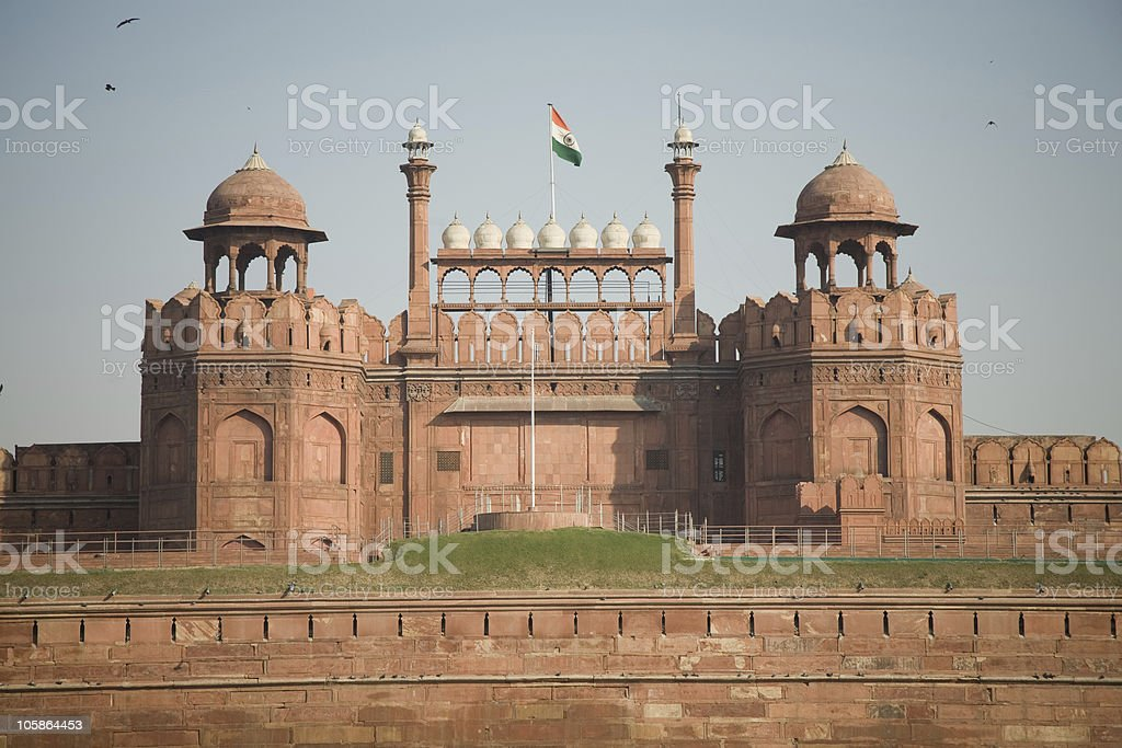 Delhi Red Fort royalty-free stock photo