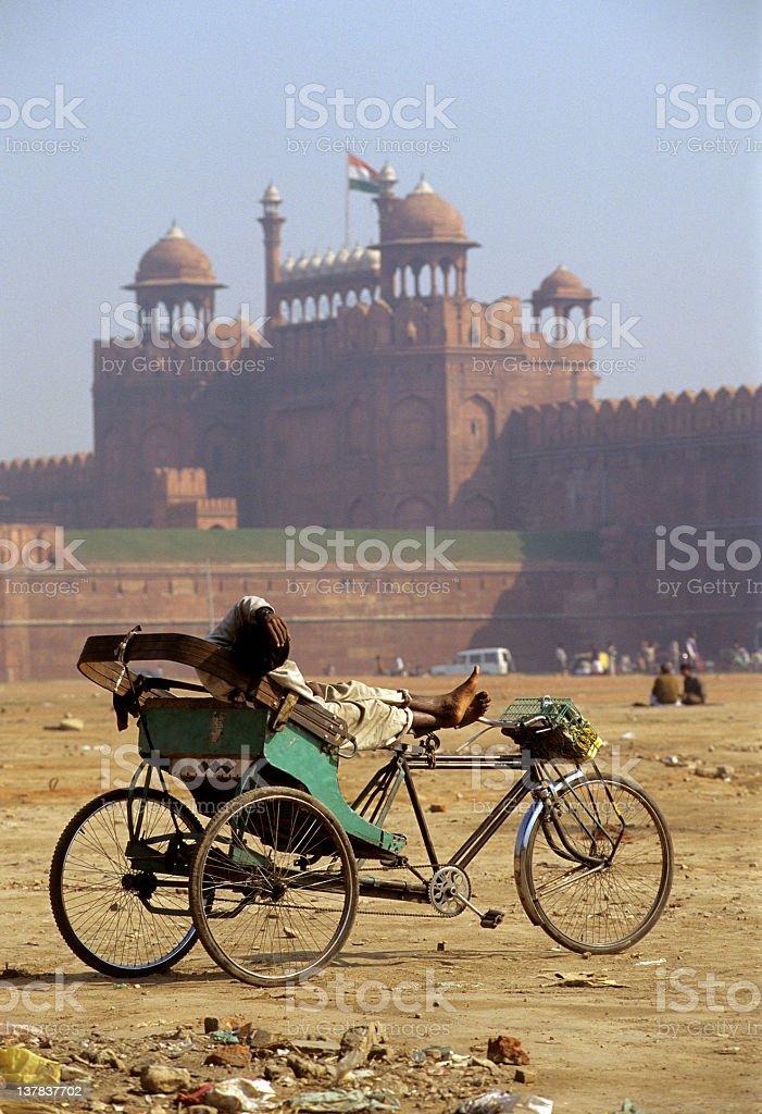Delhi Rickshaw royalty-free stock photo